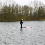 Obarns trainiert SUP bei 5Grad