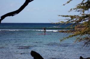 Mit dem SUP auf Ausschau nach Wellen