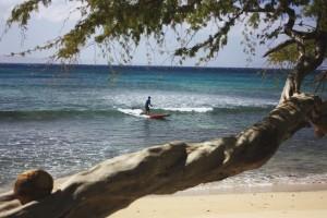 Es braucht kein grossen Wellen für SUP Spass