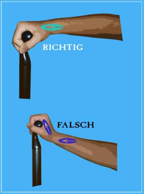Schmerzen verhindern im Handgelenk beim Paddeln