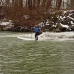 River-SUP im Winter