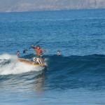 Tandem Surfen mit Hund