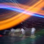 Stand Up Paddel Rennen in der Nacht