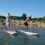 Stand Up Paddling an der Swimmnight
