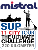 Mistral ist Hauptsponsor der SUP 11-City Tour