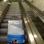SUP auf der Rolltreppe