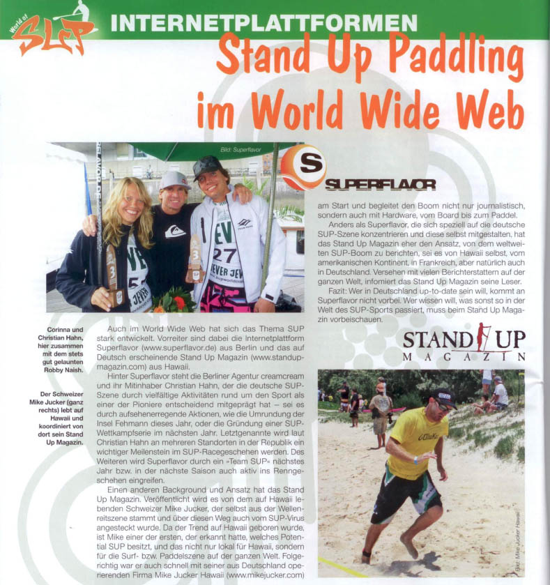"Kajak-Magazin ""World of SUP"" stellt StandUpMagazin vor"