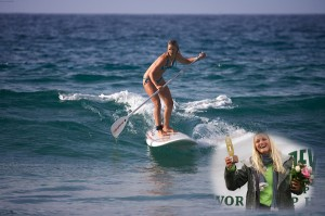 Lucy Reinhold SUPsurfing
