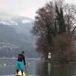Neil paddelt Eisfrei auf dem Thunersee