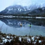 Winter Paddeln auf dem Eibsee