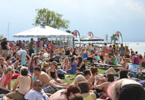 Zuschauer am Surf Worldcup Neusiedlersee