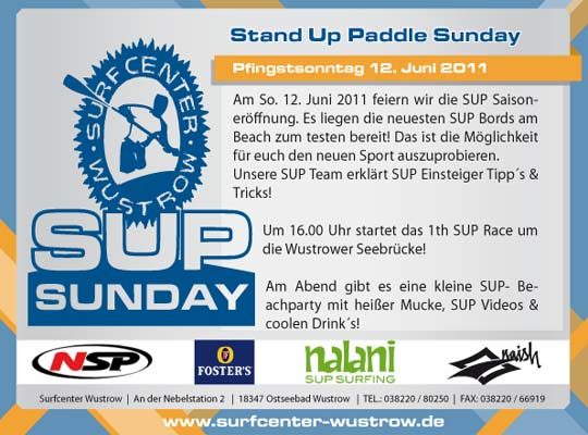 Stand Up Paddel Sunday