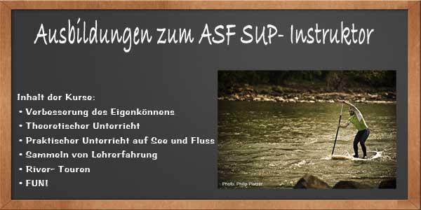 Ausbildungen zum ASF SUP- Instruktor