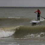 SUP Surfer Dirk Herpel auf Fehmarn