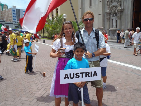 Team Austria an der SUP WM in Peru