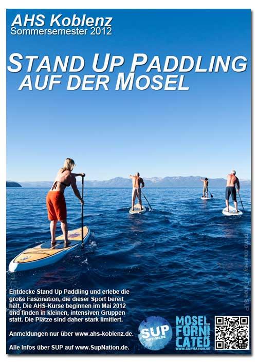 Stand Up Paddling mit dem Allgemeinen Hochschulsport Koblenz