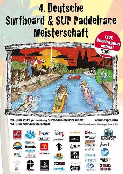 Die 4. Deutschen Surfboard und SUP Paddelrace Meisterschaften  in neuer Location