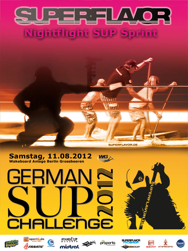 Superflavor German SUP Challenge 2012 – Nightflight SUP Sprint Berlin