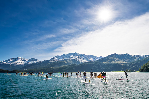 Start-SUP-Rennen-Engadin