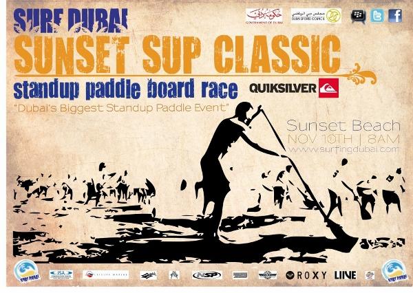 Erstes Stand Up Paddel Rennen in Dubai