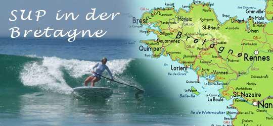 Mit SUP und Camper in der Bretagne