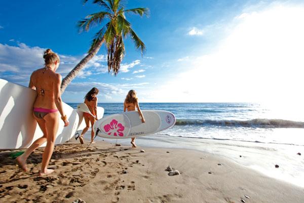 SUP Girls on the beach