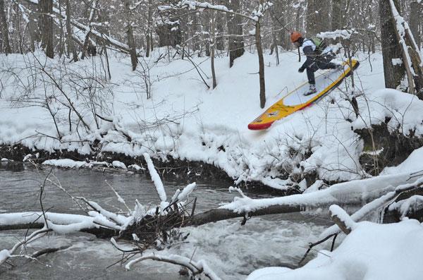 Im Schnee mit Peter Bartl