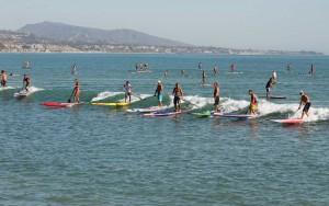 Trainieren in den Wellen