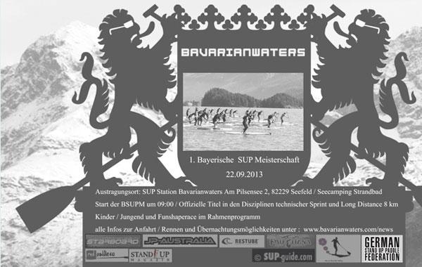 Erste Bayrische SUP Meisterschaften