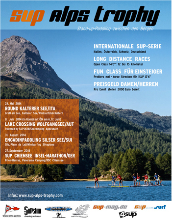 SUP Alps Trophy 2014 – SUP Rennen in den Alpen