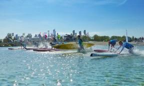 SUP Action beim ersten Tourstop der Killerfish German SUP Challenge auf Fehmarn