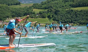 SUP Alps Trophy Round Kalterer See in Italien