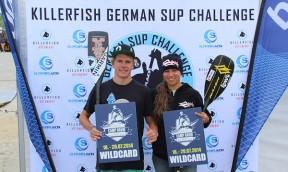 Mit Noelani Sach an der German SUP Challenge auf Sylt