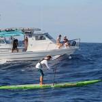 Connor mit Begleitboot