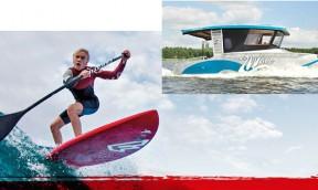 SUP Waveboard Test mit Fanatic in Brandenburg