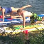 Physiotherapie beim Stand Up Paddeln in Koblenz
