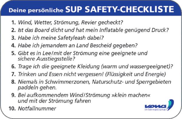 SUP-Sicherheits-Tipps