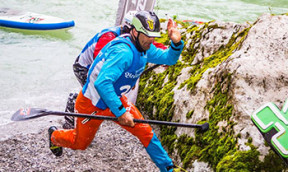 SUP Wildwasser Race Lofer mit Peter Bartl