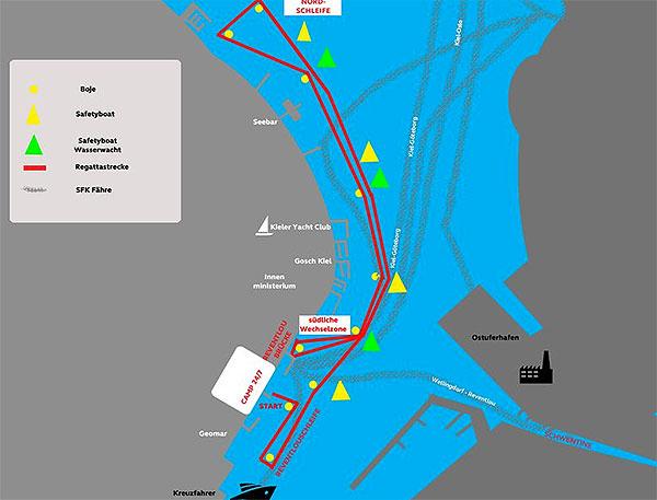 SUP-Halbmarathon-Kiel-Strecke