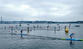 SUP Halbmarathon in Kiel
