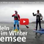 Stehpaddeln im Winter mit dem Bayrischen Rundfunk