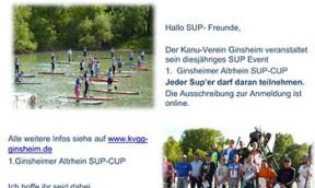 Erster Ginsheimer Altrhein SUP-CUP 2019