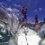 Rennstart zum Naish Paddle Race