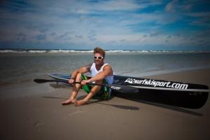 Markus Perrevoort mit Surfski