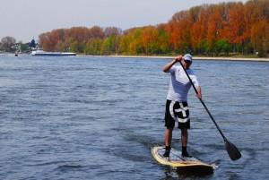Olaf Schwarz auf dem Rhein
