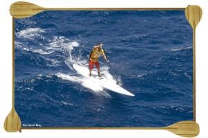 Dave Kalama. North Shore of Maui. Naish Maui Paddleboard Race. July 2009.