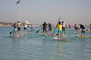 SUP Rennen in Abu Dhabi