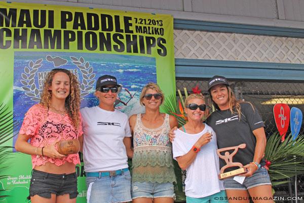 Frauen-Winner-Maui-Paddleboard-Championships