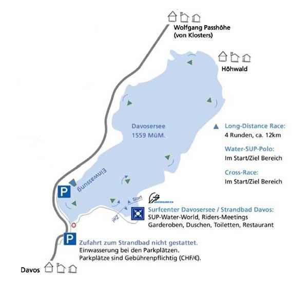 SUP-Rennen-Davoser-See-Lageplan