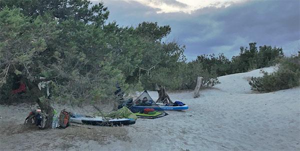 SUP-Camping